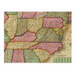 El mapa nacional de Mitchell de la república Postal