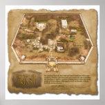 El mapa oficial de la ciudad de Trinst Poster