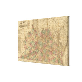 El mapa oficial de Lloyd del estado de Virginia Lona Envuelta Para Galerías