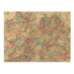 El mapa oficial de Lloyd del estado de Virginia Tarjetas Postales