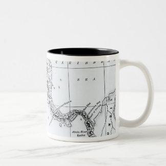 El mapa propuso las rutas ístmicas del canal taza de dos tonos
