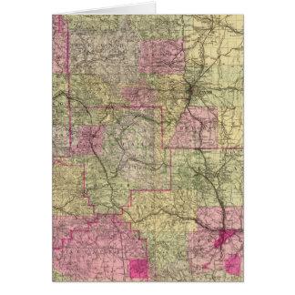 El mapa topográfico de Nell de Colorado Tarjeta