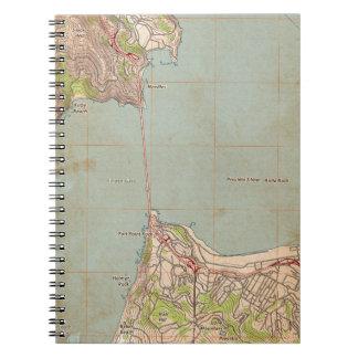 El mapa topográfico del Golden Gate Libro De Apuntes Con Espiral