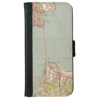 El mapa topográfico del Golden Gate Funda Cartera Para iPhone 6