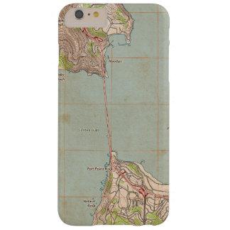 El mapa topográfico del Golden Gate Funda De iPhone 6 Plus Barely There
