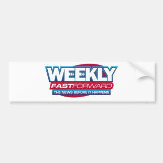 El maquillaje de las noticias ayuna semanalmente etiqueta de parachoque
