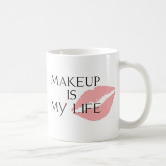 el maquillaje es mis besos de la vida tazas de café