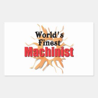 El maquinista más fino de los mundos pegatina rectangular