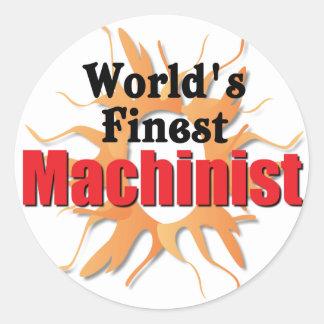 El maquinista más fino de los mundos pegatina redonda