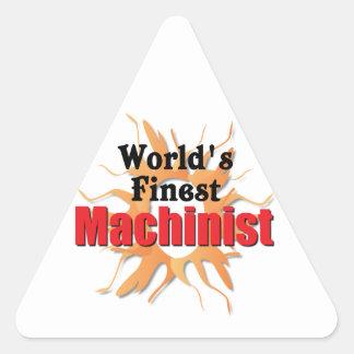 El maquinista más fino de los mundos pegatina triangular