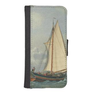 El mar, 1831 funda tipo billetera para iPhone 5