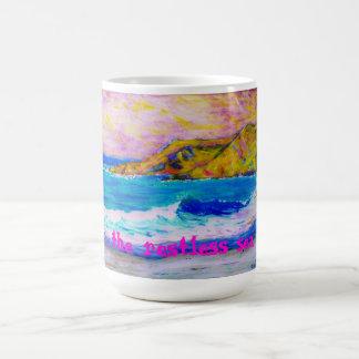 el mar agitado taza de café