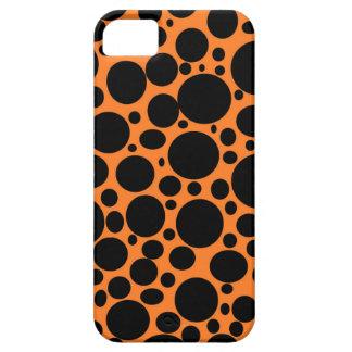 El mar anaranjado del negro burbujea caso del funda para iPhone SE/5/5s