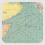 El Mar Arábigo Pegatina Cuadrada