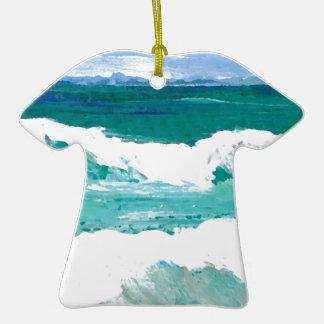 El mar de baile del océano de las ondas agita los ornamento para arbol de navidad