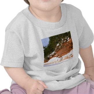 El mar de la bahía de la india del invierno excava camiseta