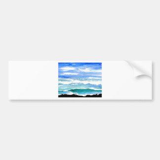 El mar de la serenidad del océano agita los pegatina para auto