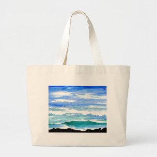 El mar de la serenidad del océano agita los regalo bolsas