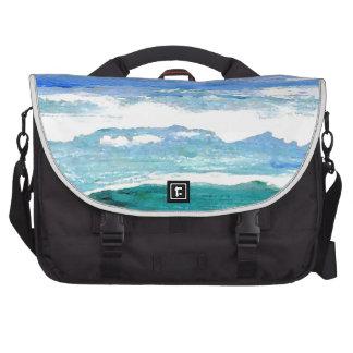 El mar de la serenidad del océano agita los regalo bolsas para portatil