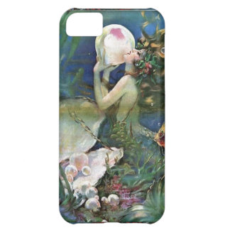 El mar de la sirena gotea la caja de Iphone del ar
