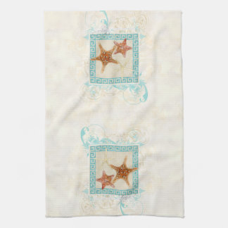 El mar de las estrellas de mar descasca la playa toalla de mano