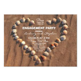el mar del boda de playa descasca al fiesta de invitación 12,7 x 17,8 cm