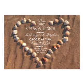 el mar del boda de playa descasca la cena del invitación 12,7 x 17,8 cm