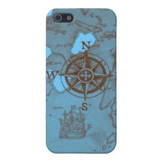 el mar del compás del mapa del tesoro del pirata e iPhone 5 cobertura
