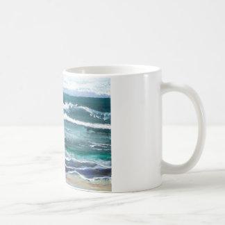 El mar del grillo - regalos de la playa de las ola tazas de café