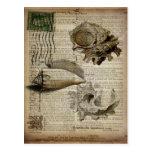el mar del vintage descasca la decoración de la tarjetas postales