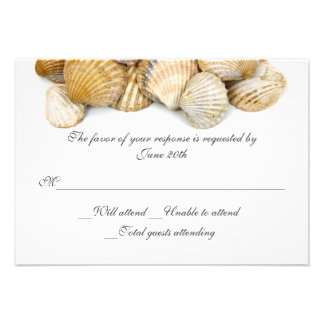 El mar descasca casar la tarjeta de RSVP Invitación Personalizada