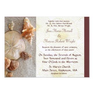 El mar descasca la invitación del boda invitación 12,7 x 17,8 cm