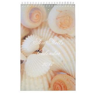 El mar descasca romántico tropical exótico del calendario