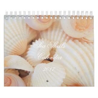 El mar descasca romántico tropical exótico del calendarios de pared
