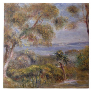 El mar en Cagnes, c.1910 (aceite en lona) Azulejo Cuadrado Grande
