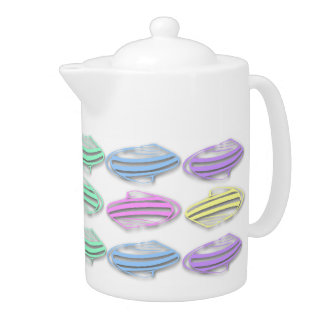 El mar en colores pastel descasca el pote del té