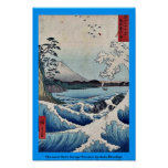 El mar en la provincia de Satta Suruga por Ando, H Poster