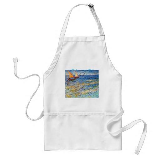 El mar en Saintes-Maries de Van Gogh Delantal
