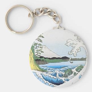 El mar en Satta en la provincia de Suruga Llaveros Personalizados
