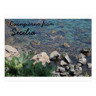 El mar jónico de Aci Castello Sicliy Tarjetas Postales