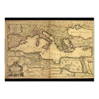 """El mar Mediterráneo dividió en su pieza de Invitación 5"""" X 7"""""""