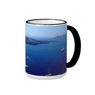 El mar mediterráneo taza a dos colores