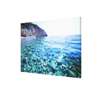 El Mar Negro Lienzo Envuelto Para Galerías