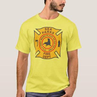 El mar parquea el cuerpo de bomberos playera