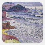 El mar picado, 1902-3 pegatina cuadrada