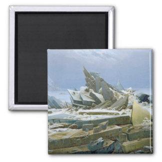 El mar polar, 1824 imán cuadrado