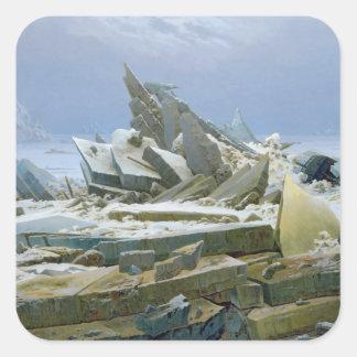 El mar polar, 1824 pegatinas cuadradas
