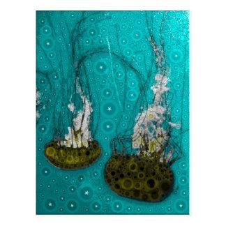 El mar profundo gelatina la postal