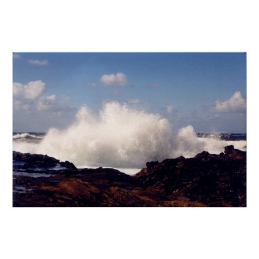 El mar resuelve la orilla póster