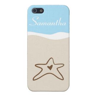 El mar Shell del océano riega la caja de la mota d iPhone 5 Protectores